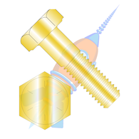 1-1/2-6 x 10 Coarse Thread Hex Cap Grade 8 Zinc Yellow USA