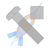 1-8 x 9 Square Machine Bolt Plain