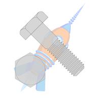 1/2-13 x 2 Hex Machine Bolt Galvanized Hot Dip Galvanized