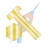 1-14 x 5 Hex Tap Bolt Grade 8 Fully Threaded Zinc Yellow