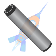 1/2 x 1 Dowel Pin Black Oxide