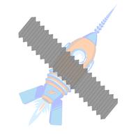 1-8 x 6-1/2 ASTM A193 ASME B16.5 B-7 B7 Stud Continuous Thread Plain