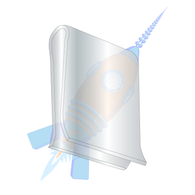 C45931-014-3B U Clips Electro Zinc
