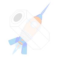 .091 x 5/8 Three Sixteenths Hex Spacer Nylon