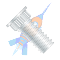 10-32 x 3/4 Broaching Type Clinch Stud F/T Phosphor Bronze Electro Tin Plate