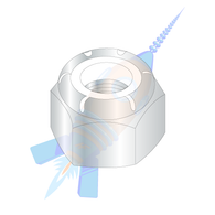 M12-1.75 Din 985 Metric Class 8 Nylon Insert Hex Lock Nut Zinc