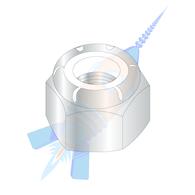 M16-1.50 Din 985 Metric Class 8 Nylon Insert Hex Lock Nut Zinc