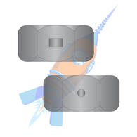10-32 Two Way Reversible Hex Lock Nut Black Zinc