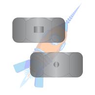 1/4-20 Two Way Reversible Hex Lock Nut Black Zinc