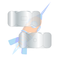 1-8 Two Way Reversible Hex Lock Nut Zinc