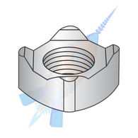 M8-1.25 Din 928 Metric Square Weld Nut A2 Stainless Steel