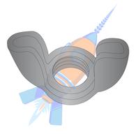 6-32  Stamped Wing Nut Black Oxide