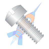 0-80 x 3/8 Slotted Fillister Machine Screw Fully Threaded 18-8 Stainless Steel