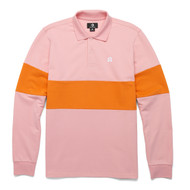 GOLF LE FLEUR FLOWER EMBROIDERED POLO CANDY PINK