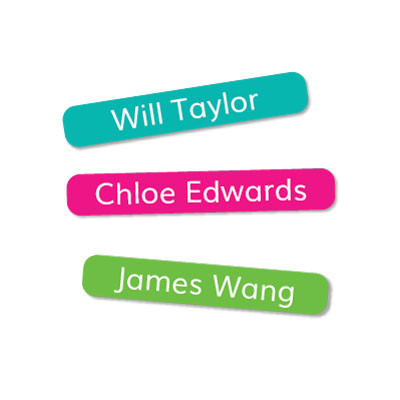 Tiny Stick On Labels are a stylish pencil label - ideal for when ever you need a neat little label!
