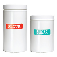 Designer Pantry Labels make a stylish addition to your pantry.