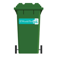 Giant Labels by That's Mine are ideal to label wheelie bins with your address.