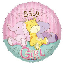 Baby Girl Jungle Balloon