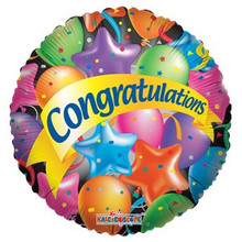 Congratulations Stars Balloon