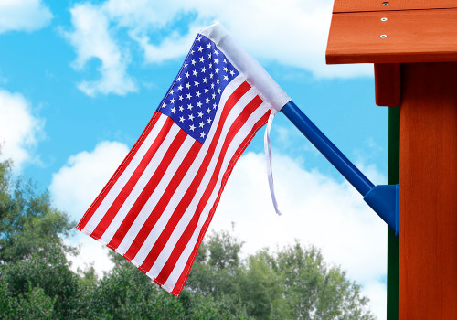 Outdoor view of American Flag by Gorilla Playsets.
