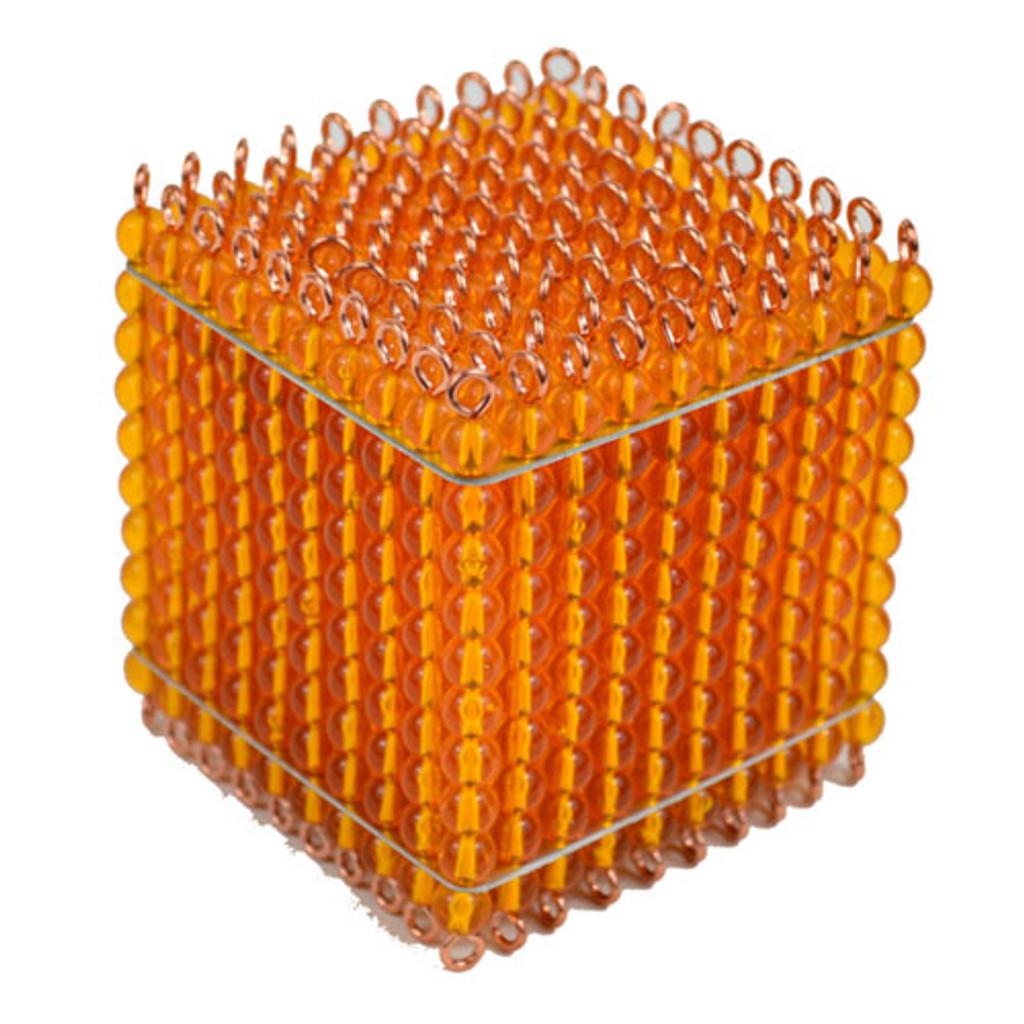 Golden Bead Thousand Cube