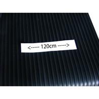 Medium spaced rib rubber mat  (1.2mtr wide)