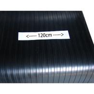Heavy classic  wide flat top rubber mat (1.2mtr wide)