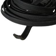 Bonnet Lacing - 16mm Black cotton dog bone shape