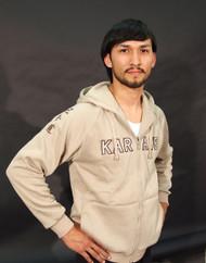 Adidas Karate Hooded Sweat; Beige