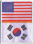 "2 Flags Patch 4.75"" 3.5"""