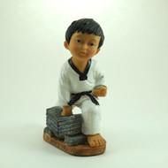 Martial Arts Figurines; Boy Breaking Bricks