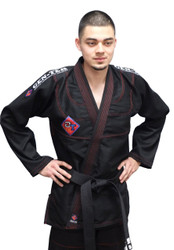 Black GENTEK Jiu-Jitsu Uniform; Pearl Weave