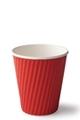 Detpak 8oz Ripple Cups Red