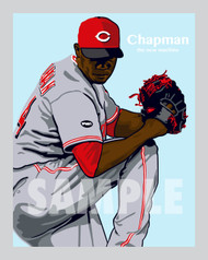 Digital Illustration of fan favorites and great pitcher Aroldis Chapman!