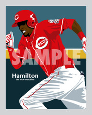 Digital Illustration of Billy Hamilton - one of rising stars from The New Machine!