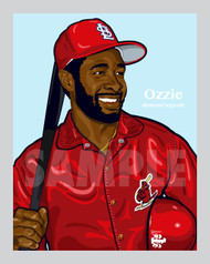 Digital Illustration of one of the All-Time great Diamond Legends of baseball, Hall of Famer and St. Louis Great The Wizard of OZ, Ozzie Smith!