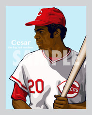Digital Illustration of Cesar Geronimo - one of the All-Time fan favorites!