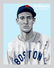 Digital Illustration of Ted Williams – Hall of Famer and one of the All-Time great Diamond Legends of baseball