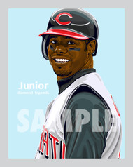 Digital Illustration of Ken Griffey Jr. – Hall of Famer and one of the All-Time great Diamond Legends of baseball!