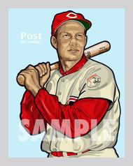 Digital illustration of one of the All-Time Cincinnati Baseball Team greats, Wally Post.