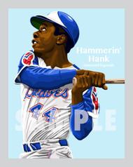 Digital Illustration of Hammerin' Hank Aaron - one of the All-Time great Diamond Legends of Baseball!!