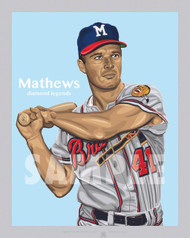 Digital Illustration of one of the All-Time Diamond Legends of baseball, Hall of Famer and Milwaukee Great Eddie Mathews!