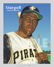 Digital Illustration of one of the All-Time Diamond Legends of baseball, Hall of Famer and Pittsburgh Great Willie Stargell!