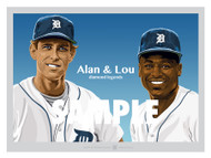 Digital Illustration of one of the All-Time Diamond Duo Legends of baseball, Hall of Famers and Detroit Greats Alan Trammell and Lou Whitaker!