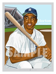 Digital Illustration of one of the All-Time Detroit Greats and Fan Favorite Willie Horton!
