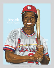 Digital Illustration of one of the All-Time St. Louis Greats and Hall of Famer Lou Brock!