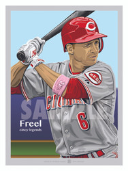 Digital Illustration of Cincinnati fan favorite Ryan Freel.