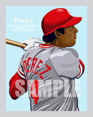 Digital Illustration of Hall of Fame great Tony Perez game 7 home run!