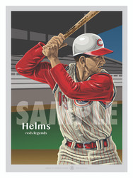 Digital Illustration of a Cincinnati fan favorite All-Star and Gold Glove winner Tommy Helms.