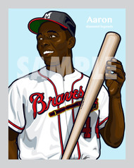 Digital Illustration of one of the All-Time Diamond Legends of baseball, Hall of Famer and Atlanta Great Hank Aaron!